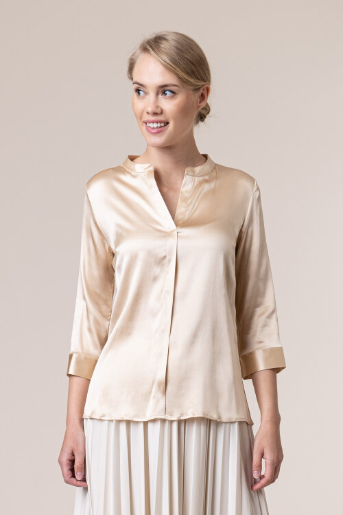 Bluzka Cavaliere 68VS20513_Lucy gold silk_01 beżowy