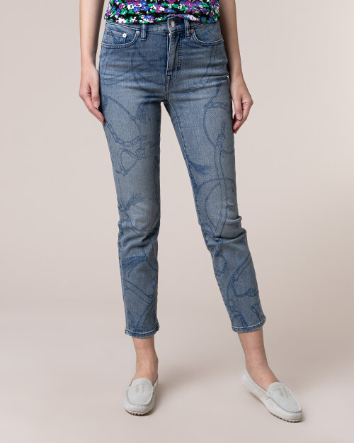 Spodnie Lauren Ralph Lauren 200785288001_WORN INDGO niebieski