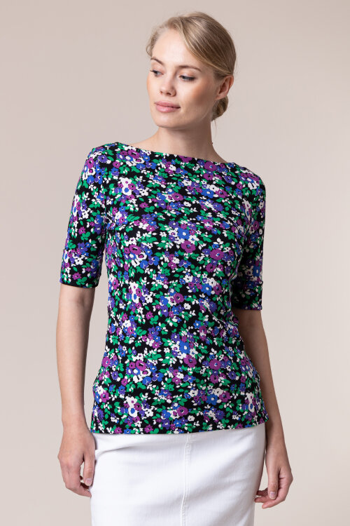 T-Shirt Lauren Ralph Lauren 200790544001_BLACK MU wielobarwny