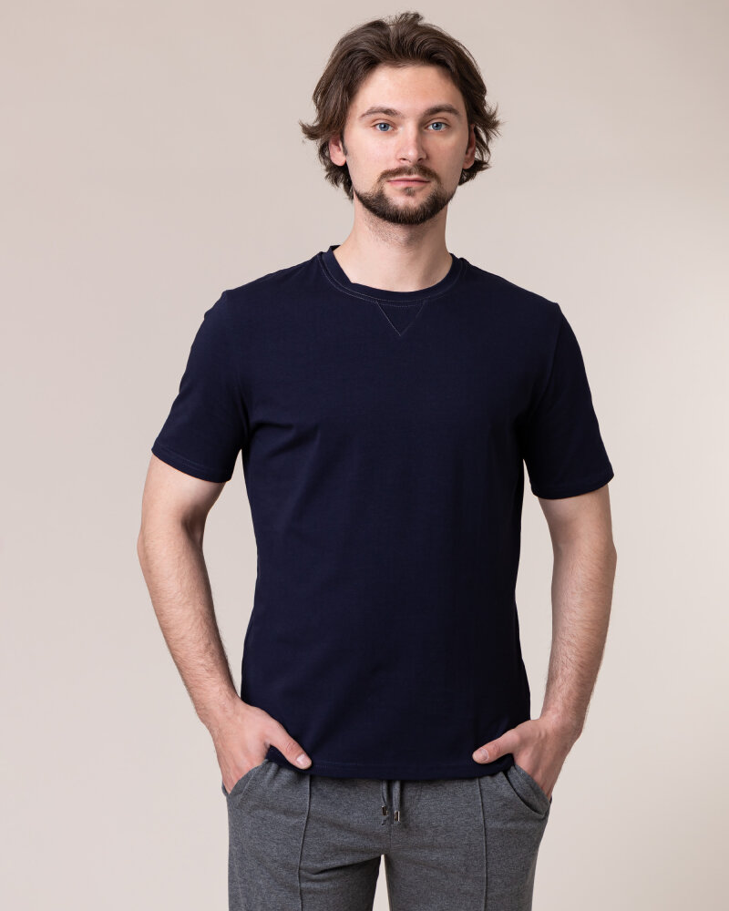 T-Shirt Philip Louis NOS_M-TSH-0038 NOS_NAVY granatowy - fot:2