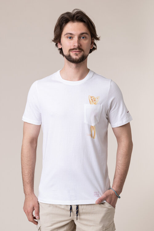 T-Shirt Colours & Sons 9120-473_049 PIN-UP biały