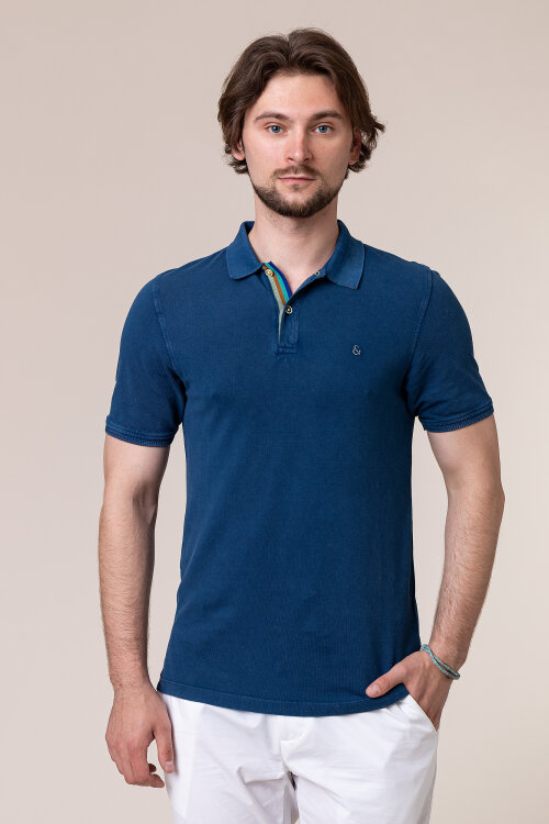 Polo Colours & Sons 9120-460_699 DEEP SEA niebieski