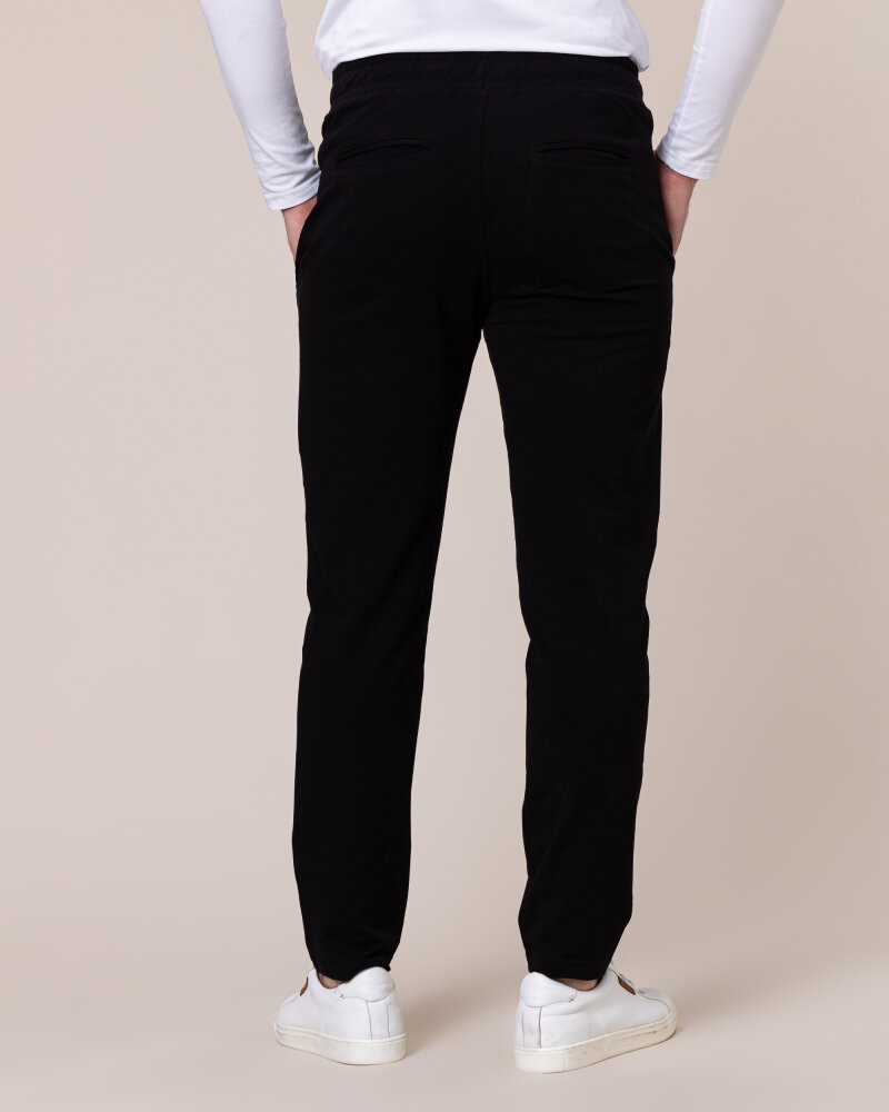 Spodnie Philip Louis NOS_M-TRO-0032 NOS _BLACK czarny - fot:4