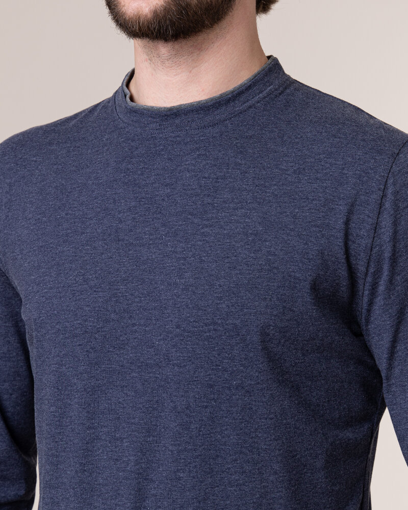 T-Shirt Philip Louis NOS_M-TSH-0034 NOS_INDYGO granatowy - fot:3
