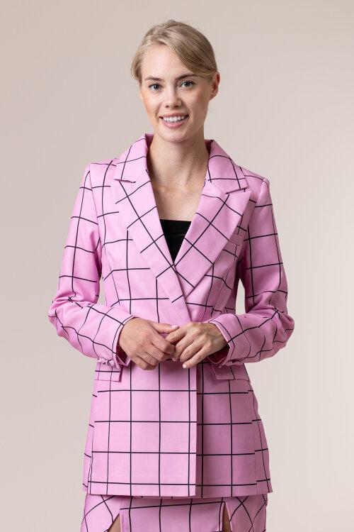 Marynarka Na-Kd 1018-005319_Pink Check Różowy Na-Kd 1018-005319_PINK CHECK różowy