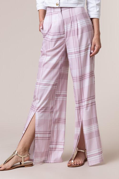 Spodnie Na-Kd 1018-005349_PINK CHECK różowy