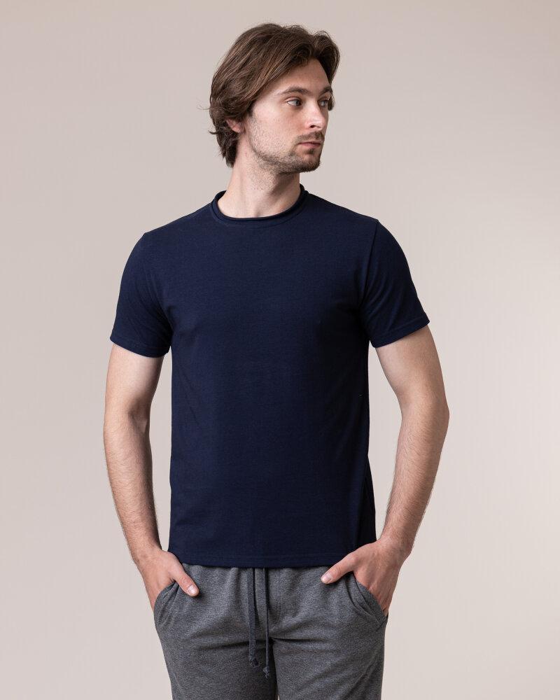 T-Shirt Philip Louis NOS_M-TSH-0042 NOS_NAVY granatowy - fot:2