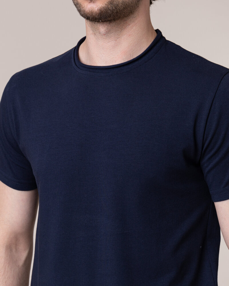 T-Shirt Philip Louis NOS_M-TSH-0042 NOS_NAVY granatowy - fot:3