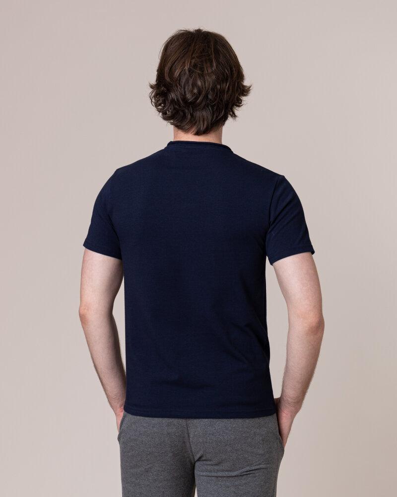 T-Shirt Philip Louis NOS_M-TSH-0042 NOS_NAVY granatowy - fot:4