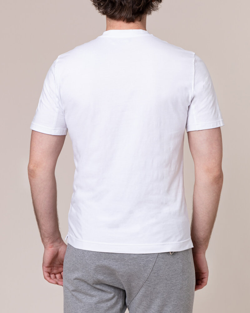T-Shirt Philip Louis NOS_M-TSH-0041 NOS_WHITE biały - fot:4
