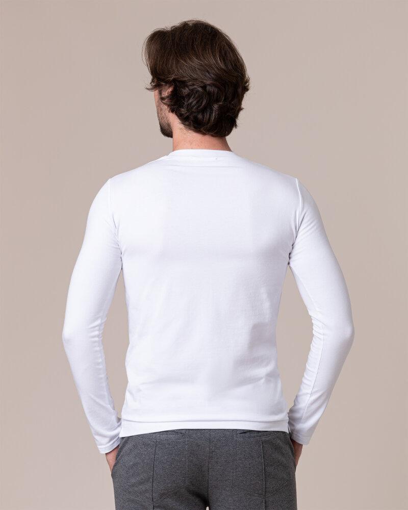 T-Shirt Philip Louis NOS_M-TSH-0044 NOS_WHITE biały - fot:4