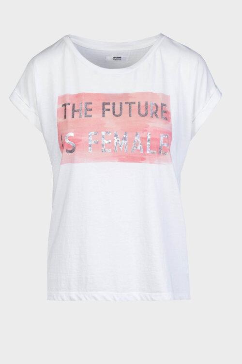 T-Shirt Bomboogie TW6406_JSEL_01 kremowy