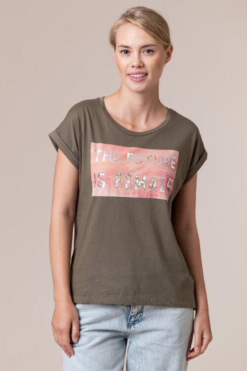 T-Shirt Bomboogie TW6406_JSEL_32 zielony