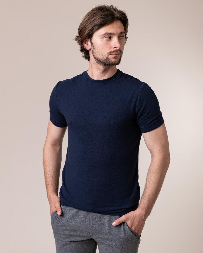 T-Shirt Philip Louis NOS_M-TSH-0035 NOS_NAVY granatowy - fot:2