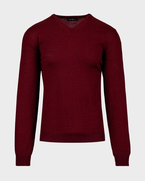 Sweter Philip Louis NOS_02/5/BOR NOS_BORDO bordowy