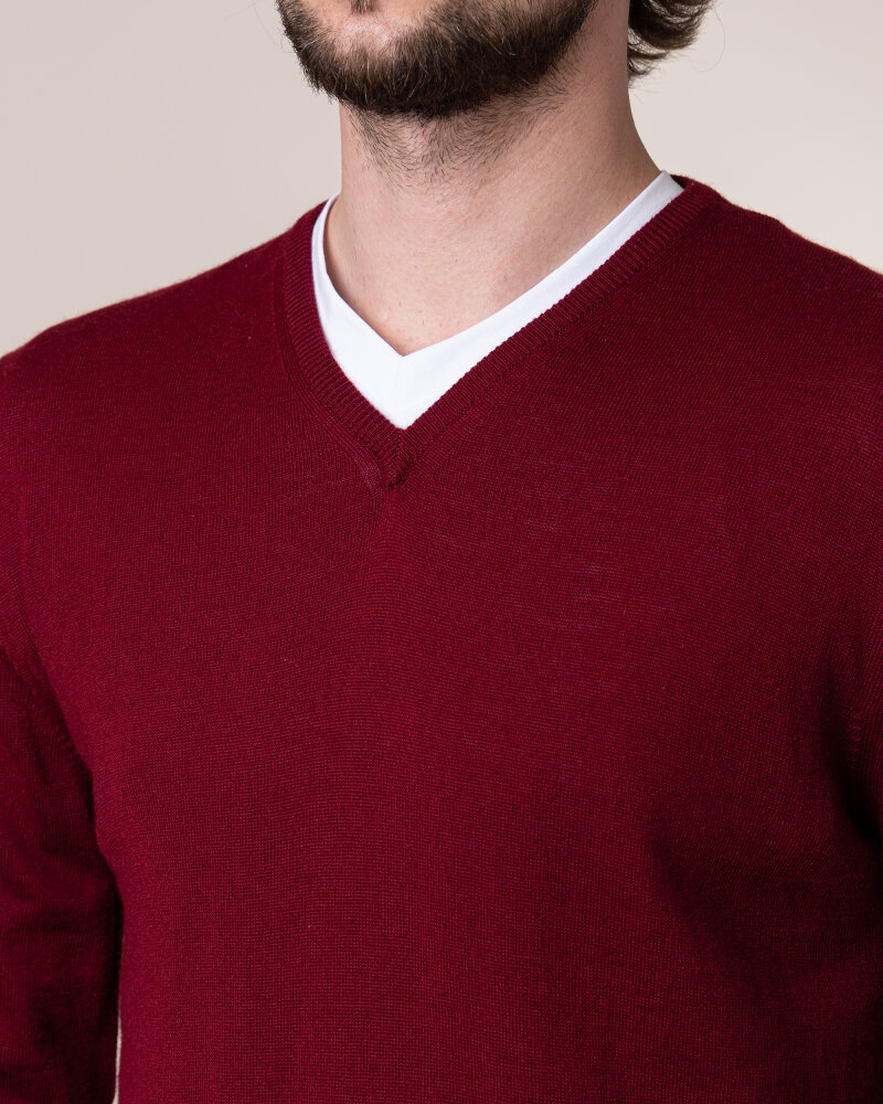 Sweter Philip Louis NOS_02/5/BOR NOS_BORDO bordowy - fot:3