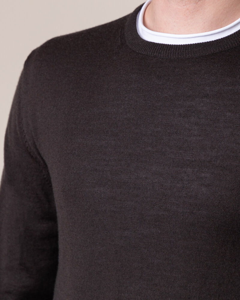 Sweter Philip Louis NOS_01/5/BRN NOS_BROWN brązowy - fot:3