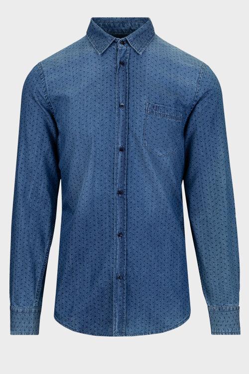 Koszula Trussardi Jeans 52C00091_0T003930_U280 niebieski