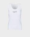T-Shirt Gas 99674_CATYE RW.LOGO STRASS_0001 biały