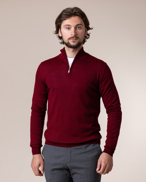 Sweter Philip Louis NOS_03/5/BOR NOS_BORDO bordowy