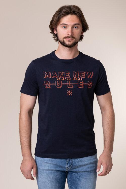 T-Shirt Lerros 2033025_485 granatowy