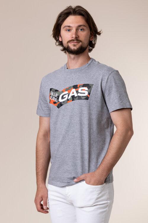 T-Shirt Gas 99574_DHARIS/R LOGO CAM._1945 szary
