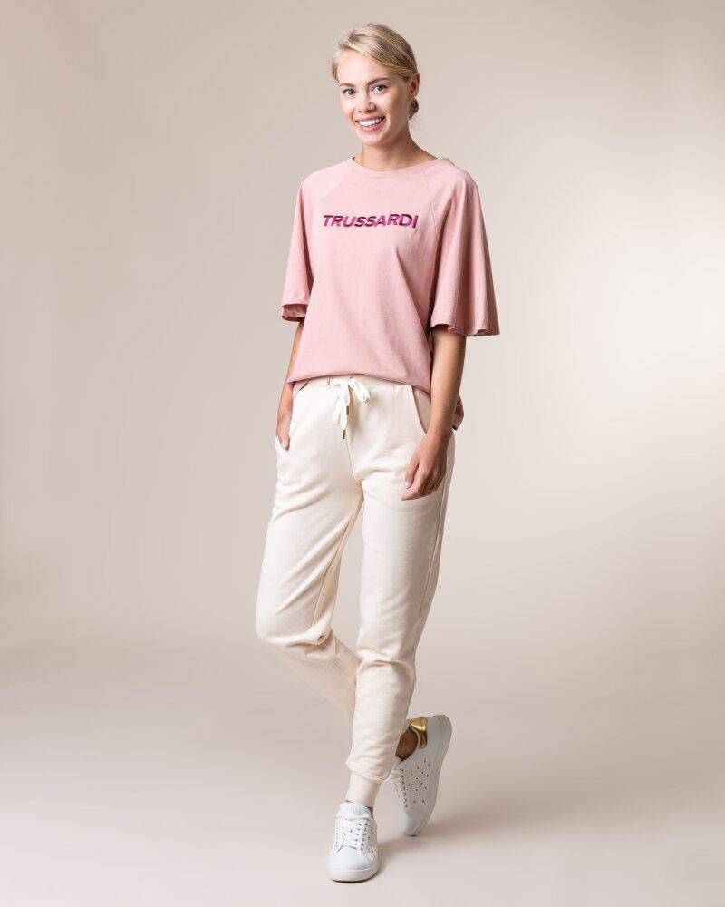 Spodnie Trussardi Jeans 56P00215_1T002268_W052 Kremowy Trussardi  56P00215_1T002268_W052 kremowy - fot:5