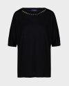 T-Shirt Trussardi Jeans 56T00288_1T004253_K299 czarny