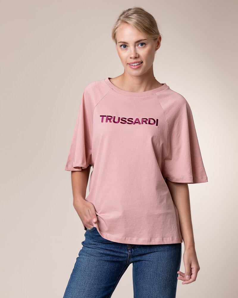 T-Shirt Trussardi Jeans 56T00279_1T003062_P073 Różowy Trussardi  56T00279_1T003062_P073 różowy - fot:2