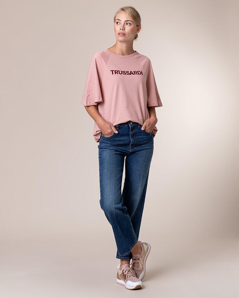 T-Shirt Trussardi Jeans 56T00279_1T003062_P073 Różowy Trussardi  56T00279_1T003062_P073 różowy - fot:5