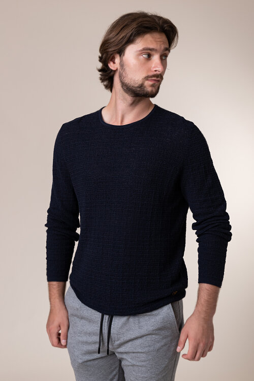 Sweter New In Town 8035037_494 granatowy