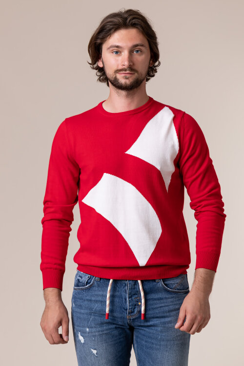 Sweter Navigare NV0022530_362 czerwony