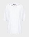 T-Shirt Trussardi Jeans 56T00288_1T004253_W001 biały