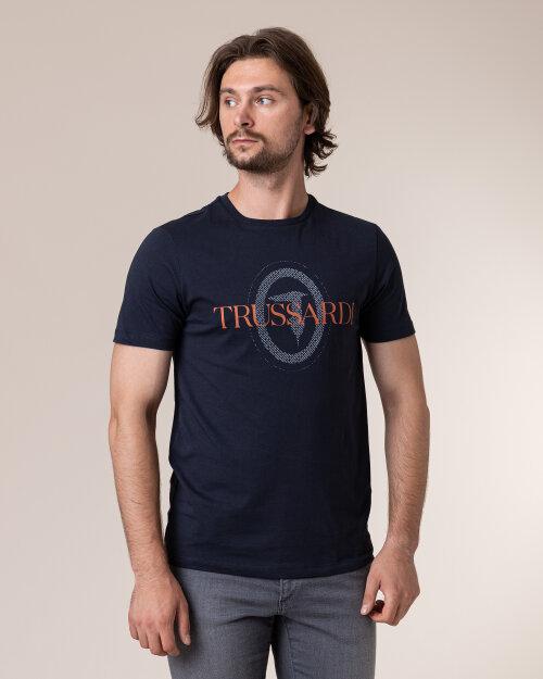 T-Shirt Trussardi Jeans 52T00385_1T003076_U290 Granatowy Trussardi  52T00385_1T003076_U290 granatowy