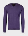 Sweter Oscar Jacobson UNO 6909_8023_672 fioletowy