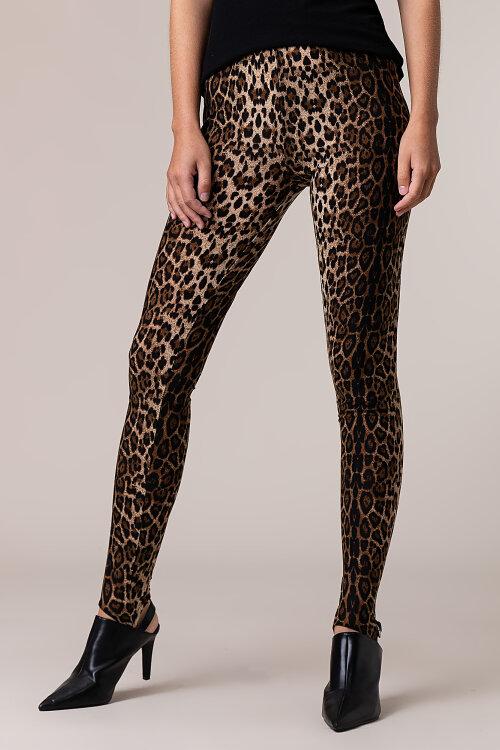 Spodnie Lollys Laundry DOLLY LEGGINGS_LEOPARD PRINT brązowy