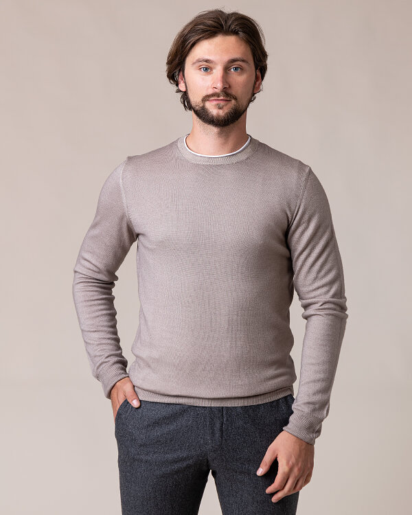 Sweter Oscar Jacobson CUSTER 6439_5400_466 beżowy