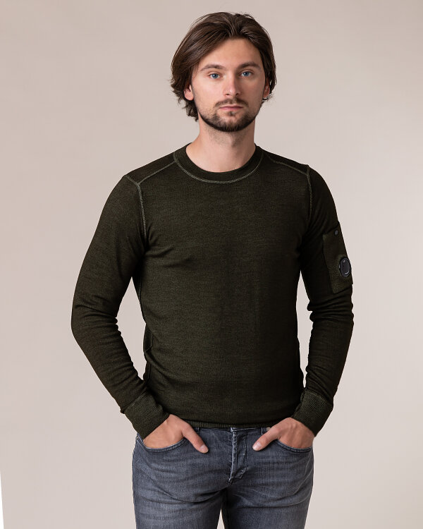 Sweter C.p. Company 09CMKN225A003247F_683 zielony