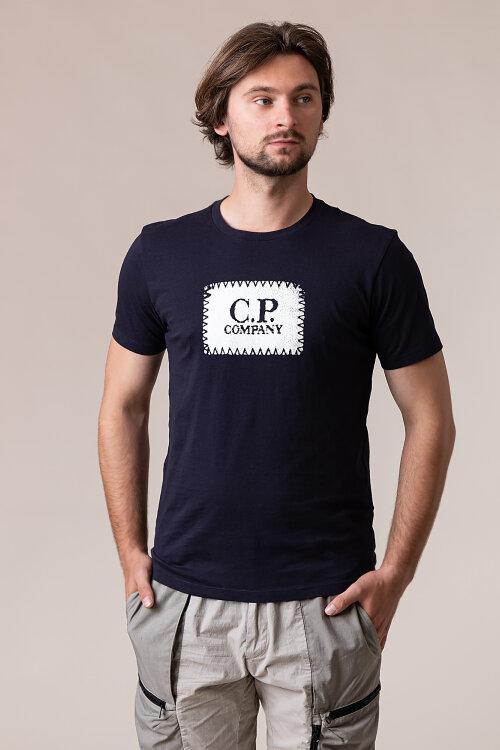 T-Shirt C.p. Company 09CMTS023A005100W_888 granatowy