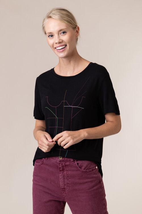 T-Shirt Na-Kd 1018-005044_BLACK czarny