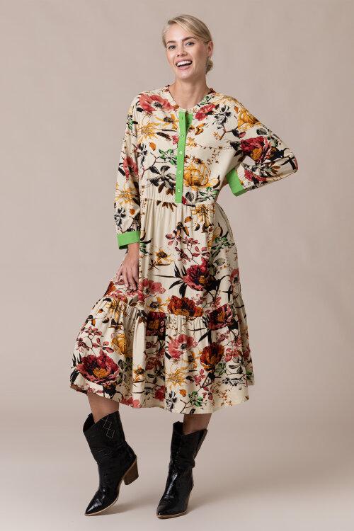 Sukienka Lollys Laundry 20383_2069_FLOWER PRINT kremowy