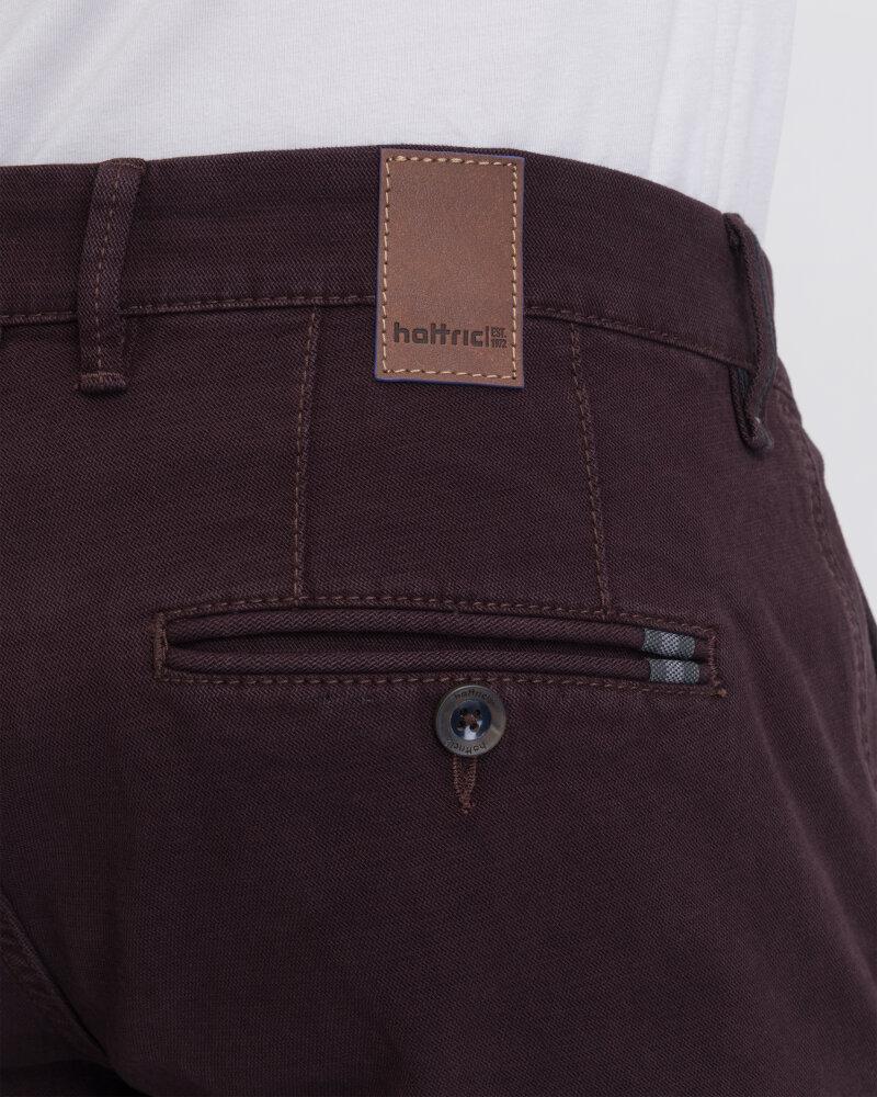 Spodnie Hattric 2223677265_59 bordowy - fot:3