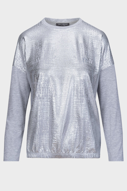 T-Shirt Campione 7722120_121130_90301 srebrny