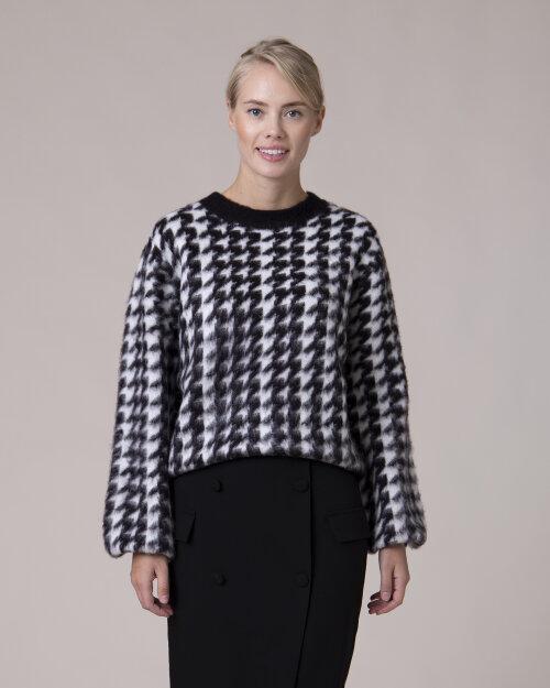 Sweter Na-Kd 1018-004593_BLACK/WHITE czarny