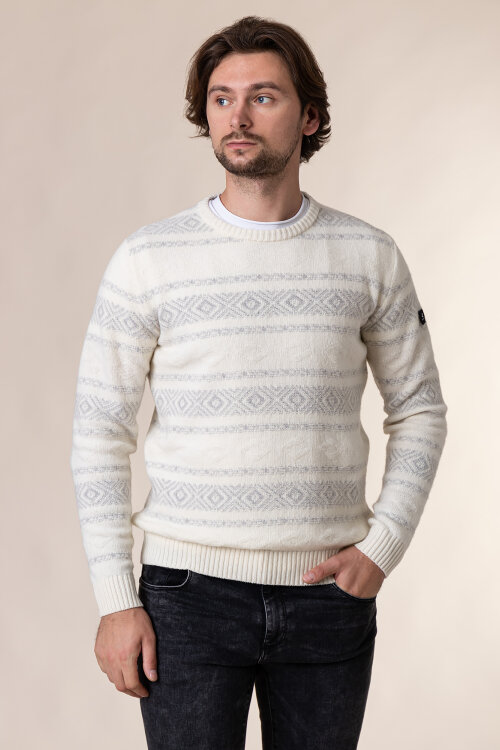 Sweter Navigare NV1030230_019 kremowy