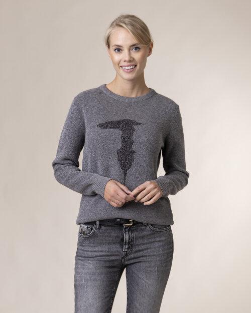 Sweter Trussardi  56M00351_0F000569_E450 szary