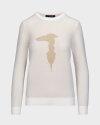Sweter Trussardi Jeans 56M00351_0F000569_W004 kremowy