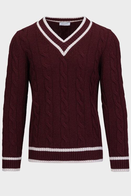Sweter Gran Sasso 13191_19630_297 bordowy