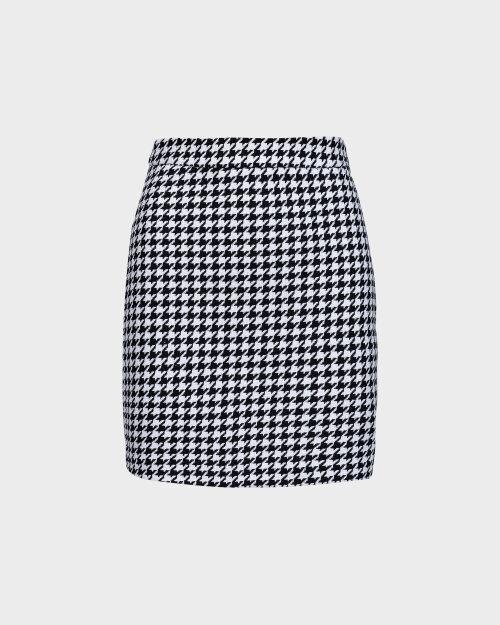 Spódnica Na-Kd 1018-004586_BLACK/WHITE czarny