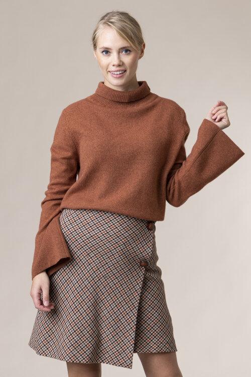 Sweter Skills&genes W204M17_W207_470 brązowy